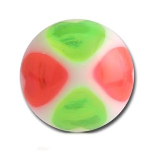 UV Heart Balls - Green and Pink