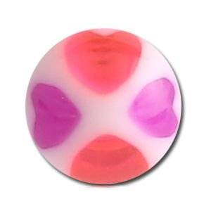 UV Heart Balls - Purple and Pink
