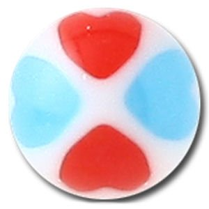 UV Micro Heart Balls - Blue and Red