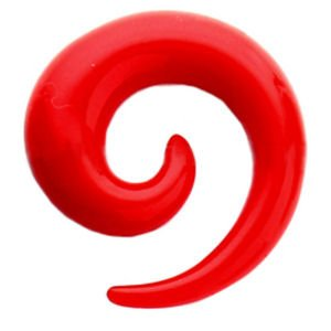 UV Spiral Ear Expander - Red
