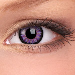 purple contacts African american