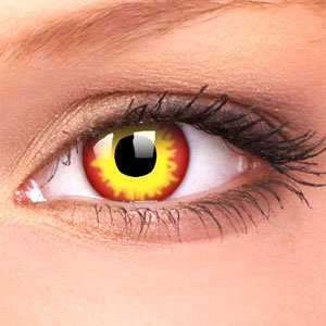 Flame Crazy Contact Lenses (Pair)