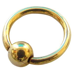Zircon Gold Ball Closure Ring