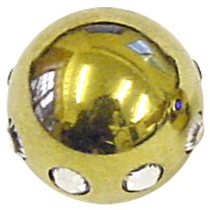 Zircon Gold Threaded Circoballs - Clear